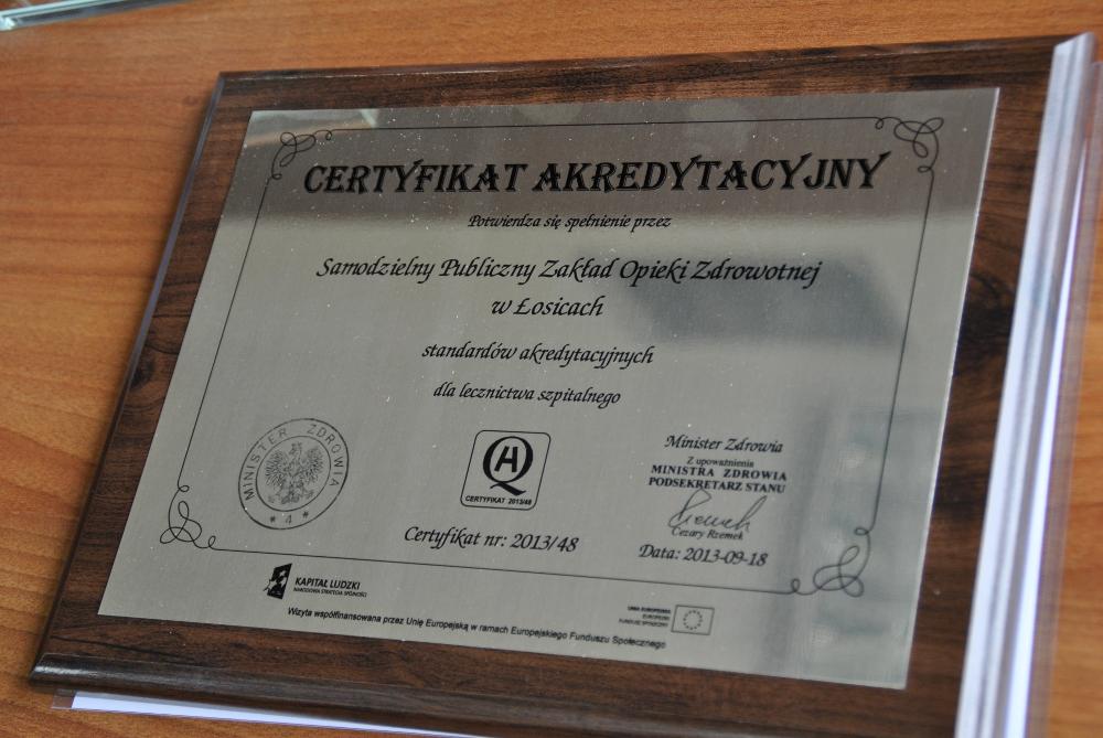 Oglądasz obrazy z artykułu: Certyfikat Akredytacyjny
